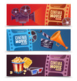 cinema horizontal banners vector image