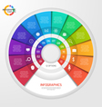 circle infographic template 12 options vector image vector image