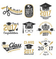 class of 2017 badge vector image vector image