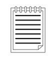 clipboard paper symbol black and white vector image vector image