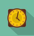 clock retro icon flat style vector image