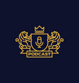 coat arms podcast vector image vector image