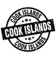 cook islands black round grunge stamp vector image vector image
