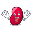 crazy jelly bean mascot cartoon vector image