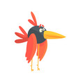 cute little funny long legged bird colorful vector image vector image