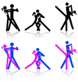Dance icons vector image vector image