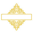 decorative ribbon border frame vector image