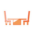 desk with chairs vector image vector image