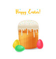 easter holiday background cartoon style vector image vector image