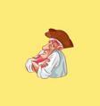 emoji sticker captain mascot resentment discontent vector image vector image