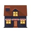 facade confortable house with sunshade vector image vector image