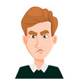 face expression of a man with blond hair - sad vector image vector image