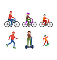 family activities flat set vector image vector image