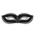 festival mask icon simple style vector image vector image