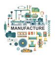 flat industrial round concept vector image vector image