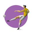 football player kicking ball vector image