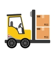 forklift delivery cargo vector image vector image