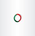 green red logo letter o symbol vector image vector image
