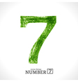 Grunge Number 7 vector image vector image