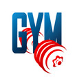 gym and dumbbell symbol vector image vector image