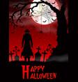 halloween death with grim reaper in woods vector image