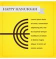 hanukka menorah on yellow happy hanukkah vector image vector image