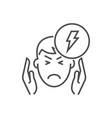 headache related thin line icon vector image vector image