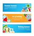 Holiday banners set vector image