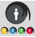 Human sign icon Man Person symbol Male toilet Set vector image