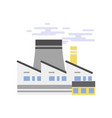 industrial building power plant or nuclear plant vector image vector image