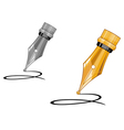 ink pen writing vector image