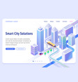 landing page smart city solutions vector image vector image
