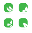 leaf icon in green color vector image vector image