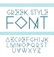 linear font greek style with ornament vector image