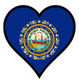 love new hampshire vector image vector image