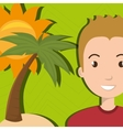 man sun palm beach vector image