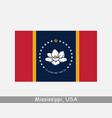 mississippi usa state flag ms usa vector image