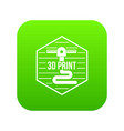 modern 3d printing icon green vector image vector image