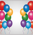 Multicolored glowing balloons decoration festive vector image