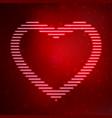 neon icon heart vector image