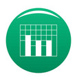 new graph icon green vector image vector image