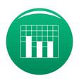New graph icon green