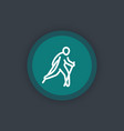 nordic walking icon linear pictogram vector image vector image