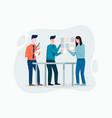 office employers preparing working schedule vector image vector image