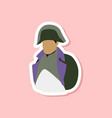 paper sticker on stylish background napoleon vector image