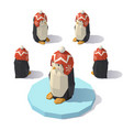 penguin in a knitted hat vector image