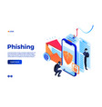 personal data phishing concept background vector image