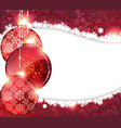 Red Christmas background with baubles vector image vector image