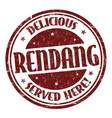 rendang sign or stamp vector image