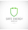 Safe Energy Concept Symbol Icon or Logo Template vector image vector image